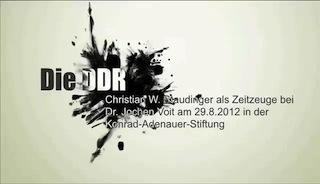 christian staudinger as a contemporary witness of GDR in Interview with Jochen Voit